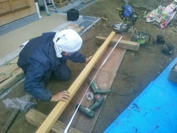柱材の加工
