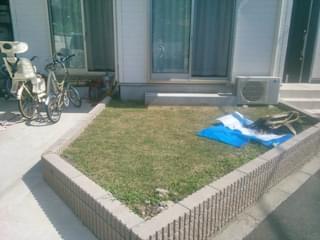 施工前のリビング前のお庭