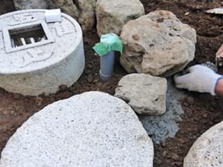 コンクリートによる土留め処理