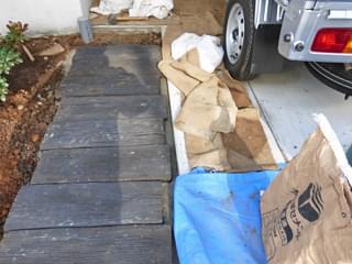 コンクリート枕木のアプローチ