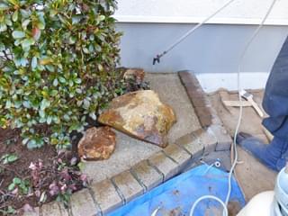 透水性舗装(固まる土)の施工