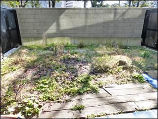施工前の専用庭の様子