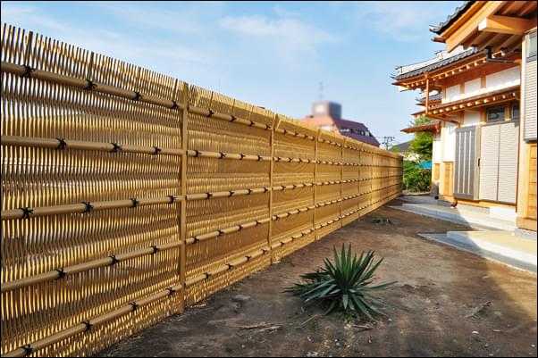 完成した大津垣の眺め