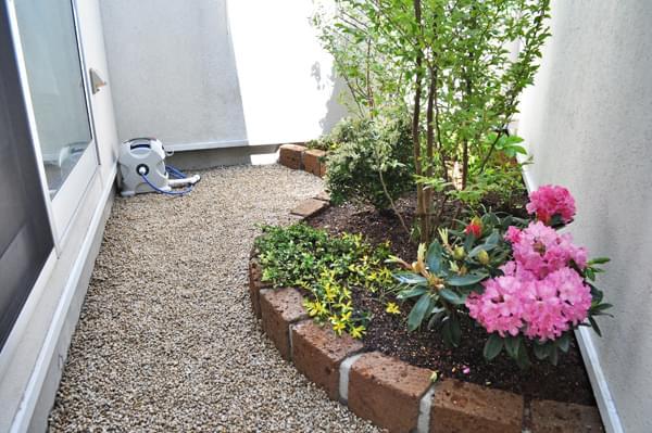 完成した小庭空間