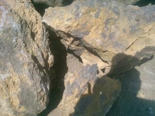 割れの目立つ石