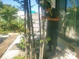 垣根設置位置を掘削