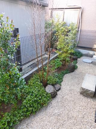完成したお庭の様子