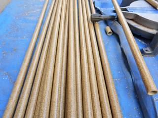 ゴマ竹模様の塩ビ人工竹