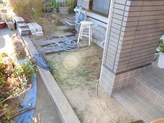 もう一箇所のお庭にも施工をします
