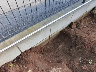 柱部分を掘削