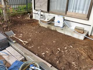 地面を掘削整地