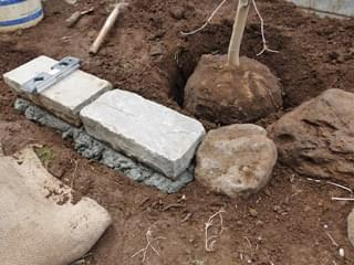庭石から縁石への繋がり