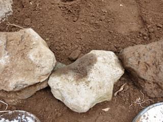 庭石のつなぎ