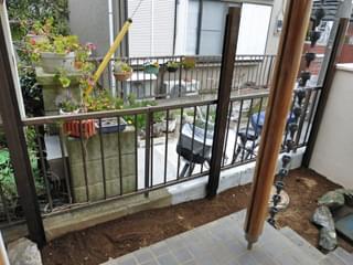 垣根柱の様子