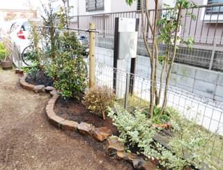 完成した花壇・植栽