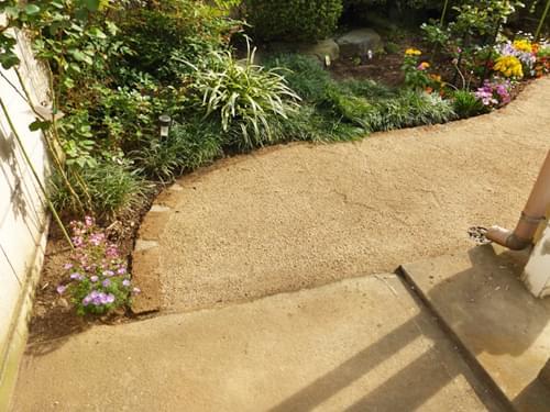 お庭の入り口部分