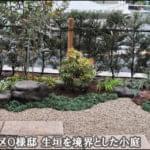 歩道を生垣で区切る小さな和風の庭-江戸川区O様邸