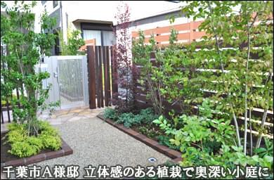 樹脂フェンスと植栽で花壇が小さな庭に-花見川区A様邸
