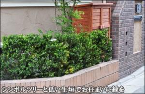 シンボルツリーと生垣でお住まいに緑を添えて-江戸川区T様邸