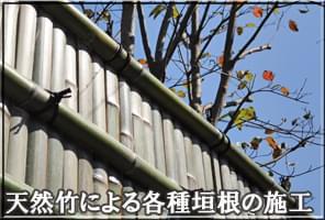 天然竹の垣根