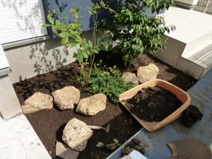 庭石の繋ぎ