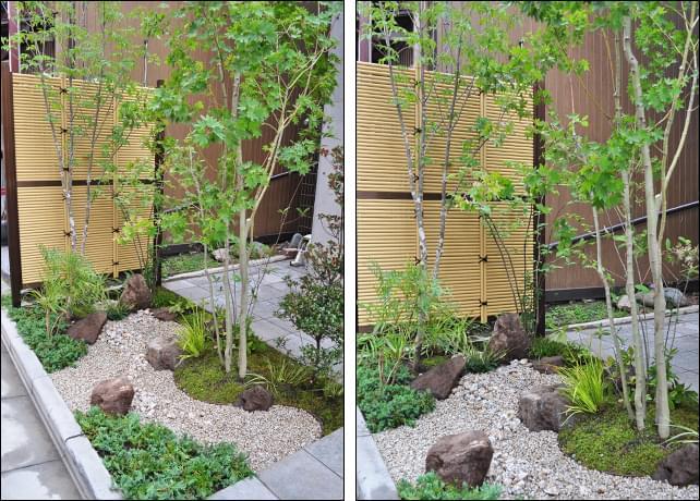 人工竹垣と枯山水による和風ナチュラルデザイン