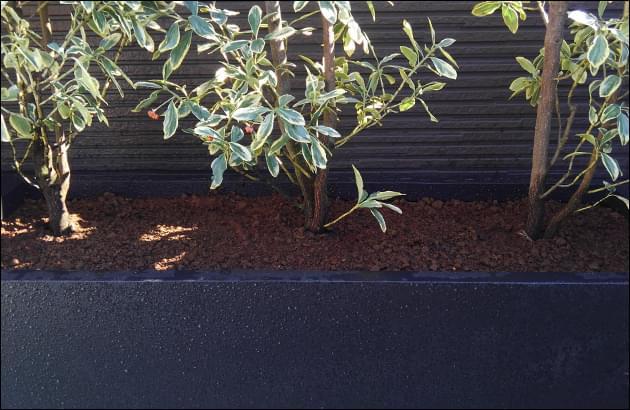 乾燥しにくい堆肥混合土