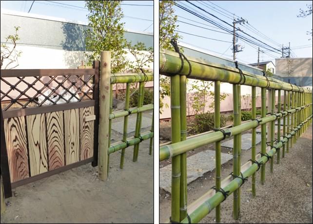 木戸と金閣寺垣