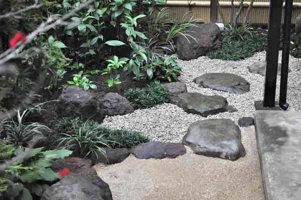 和庭に打たれた飛び石