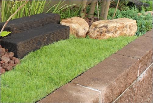 雑草の抑止も期待出来る人工芝