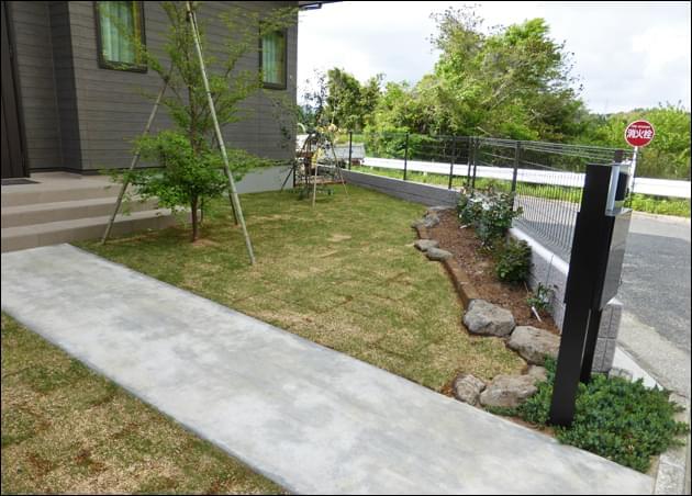除草以上のメンテナンスが必要な芝生
