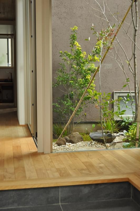 住空間と融合する坪庭:世田谷区K様邸
