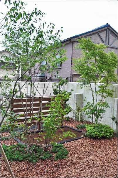 専用庭で作庭したナチュラルガーデン:足立区O様邸