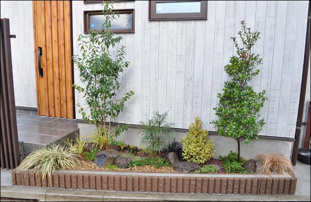 花壇への植栽デザイン全景