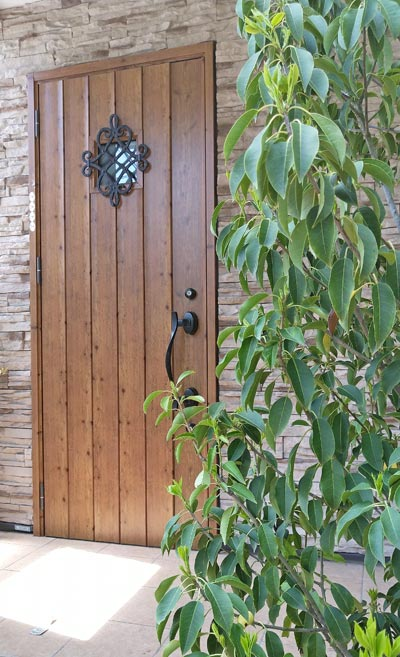 玄関に植える庭木:練馬区F様邸