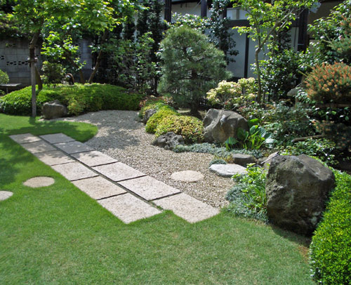 平面上に和庭デザインを施す平庭式:市川市I様邸
