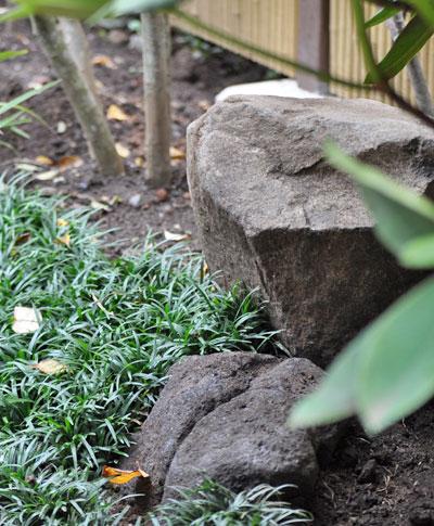 庭石や下草が演出する静けさ:杉並区I様邸