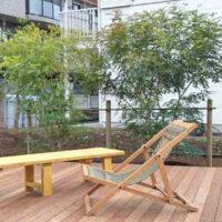 【植栽工事】シマトネリコをウッドデッキ前に植栽して、目隠しと日除けに