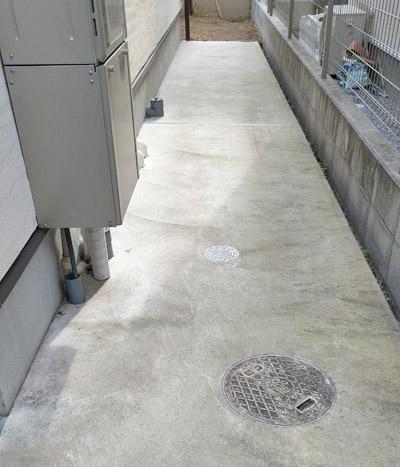 土面をコンクリートへ変える対策