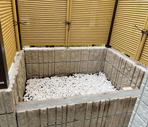 坪庭施工前のスペース